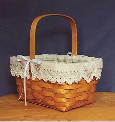 Springtime Basket Liner, Cross Specialty Hardanger Pattern