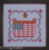 Flag Basket Cross Stitch Pattern