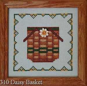 Daisy Basket Cross Stitch Pattern