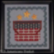 Americana Basket Cross Stitch Pattern