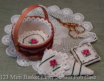 Mini Basket and Needlework Accessories - Cross Specialty Stitch Pattern