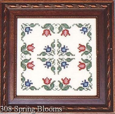Spring Blooms Tulip Cross Stitch Pattern