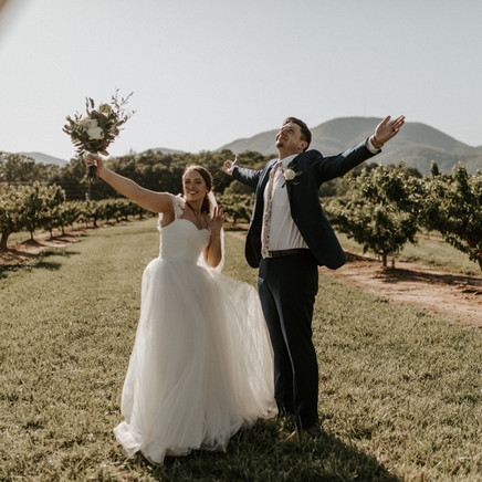 Todd and Katelyns peach orchard wedding