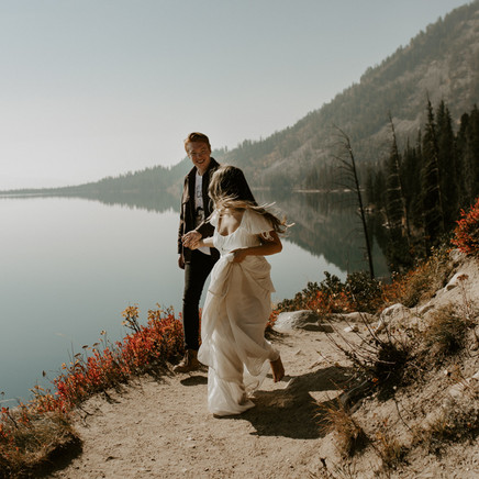 Alivia and Tristans Wyoming couples session