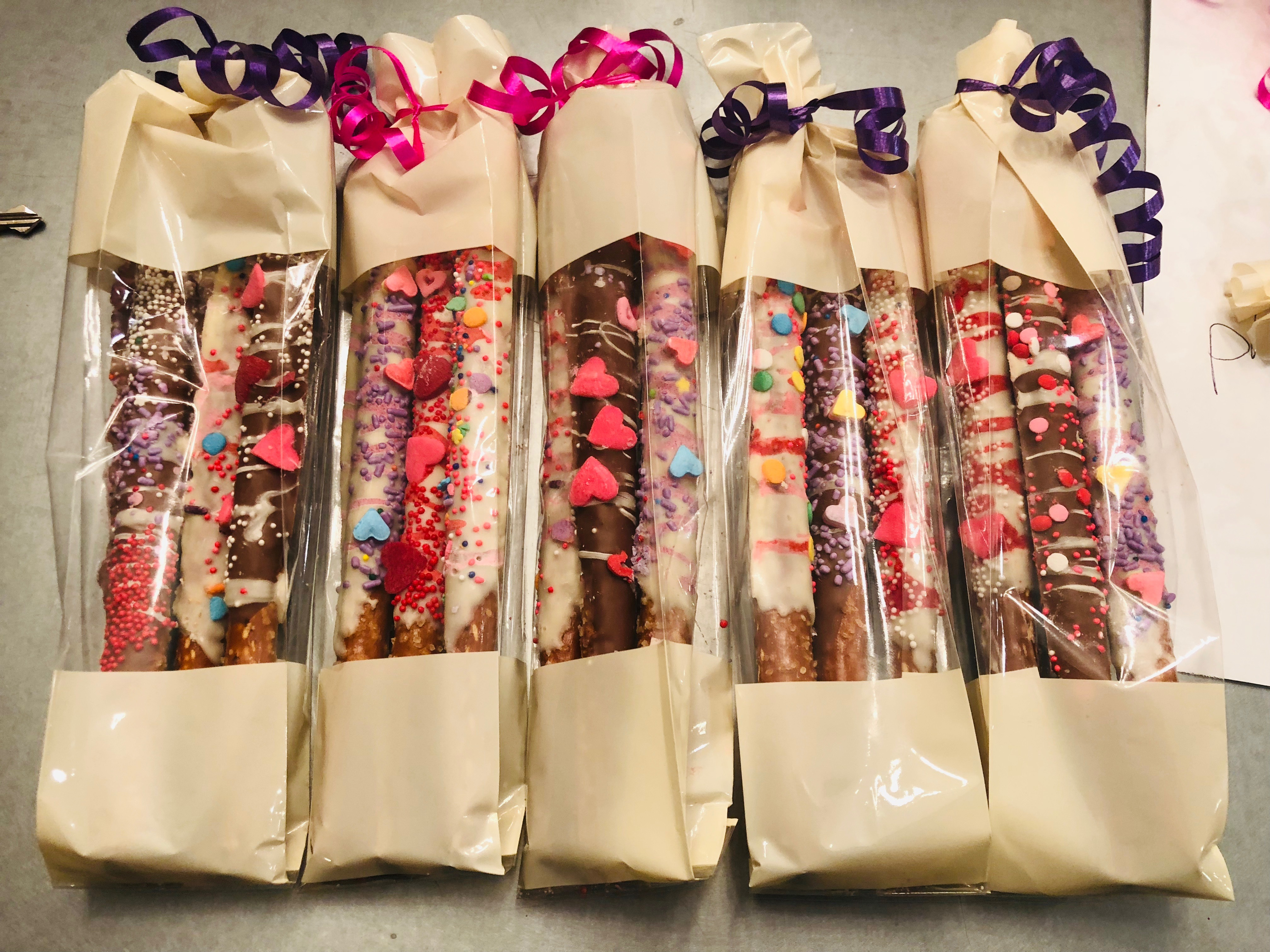 Packaged Chocolate Pretzels