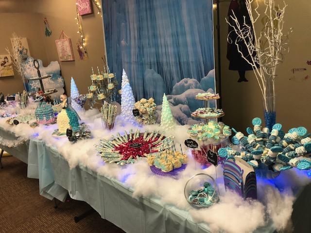 """Frozen"" Themed Dessert Display"