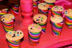Rainbow Cookie Cups