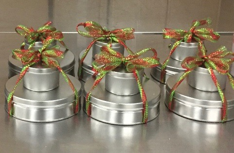 Stacked Holiday Tins