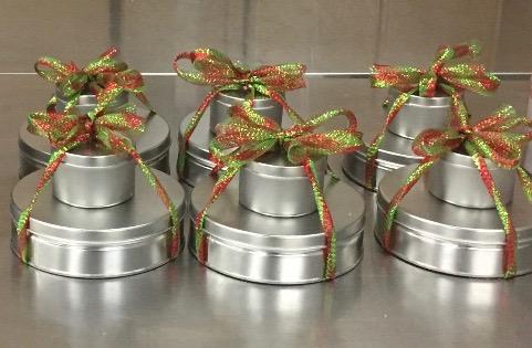 Stacked Holiday Tins