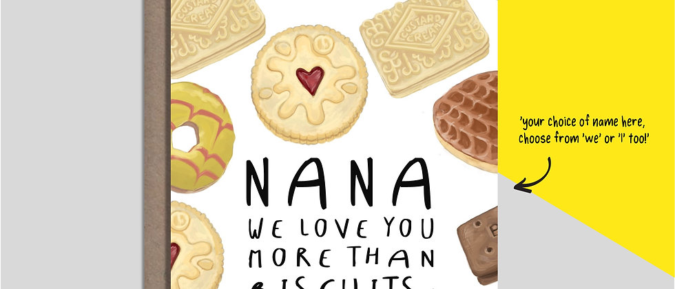 FREE PERSONALISED DESIGN - BISCUITS