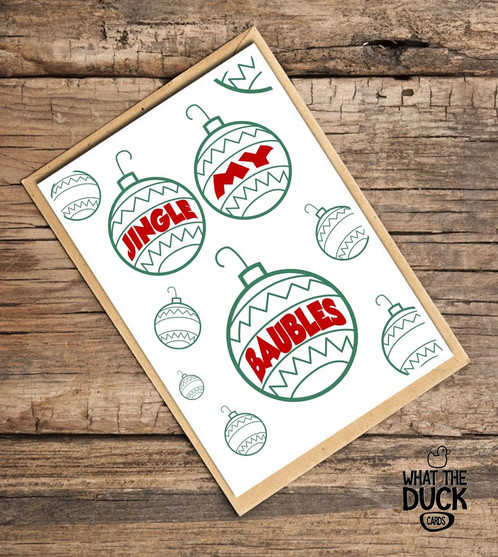 Baubles what the duck cards uk funny rude adult obscene baubles what the duck cards uk funny rude adult obscene greetings cards m4hsunfo