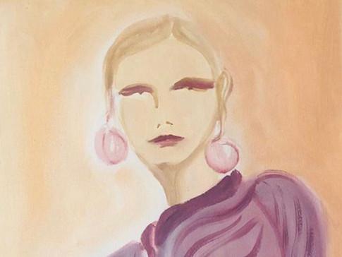 Nina Ricci Inspired 01, 2020 36x48 cm. Oil on paper