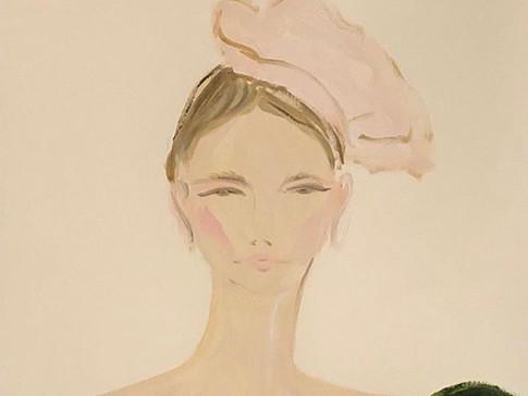 Celia Kritharioti Bows, 2020 36x48 cm. Oil on paper