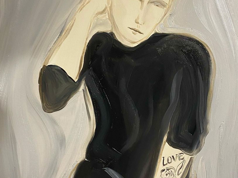 Vesa, 2020 50x65 cm. Oil on paper