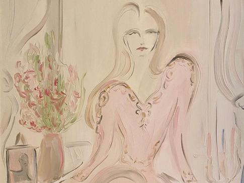 Ronja, 2020 50x65 cm. Oil on paper