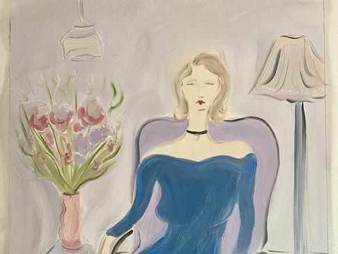 Kassu (In My Colors), 2020 50x65 cm. oil on paper
