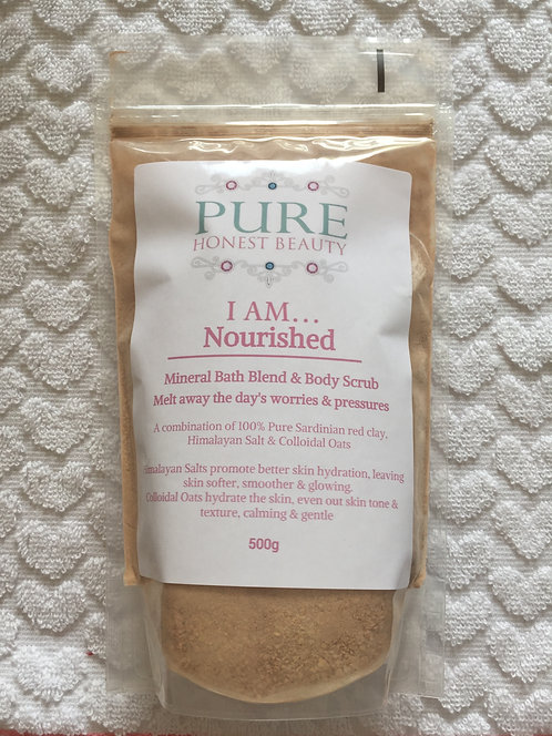 I am... Nourished Bath Blend & Body Scrub