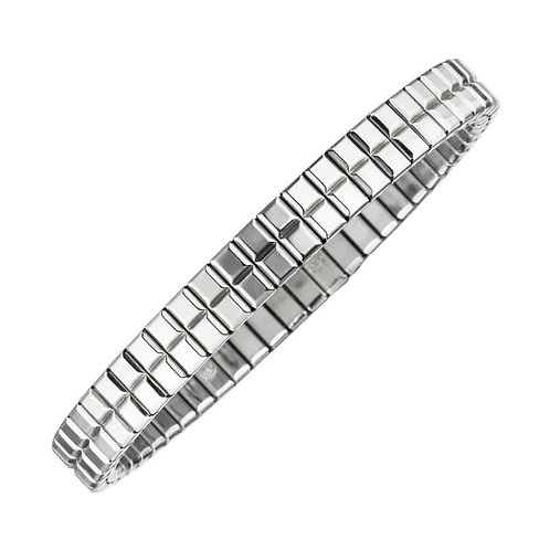 "Flexi bracelet ""Cube"" silver coloured 6.5 mm wide"