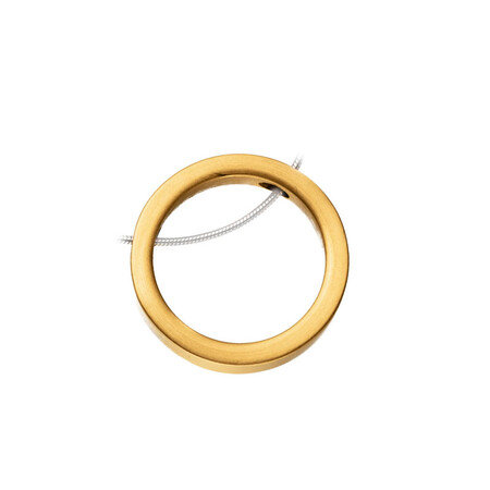 Magnetic Gold Pendant Circle