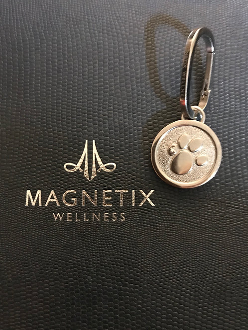 Magnetic Round Paw pendant for Dog Collar