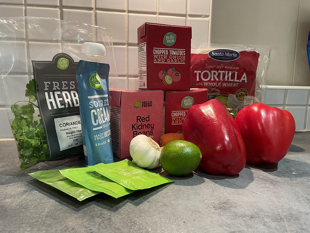 Ingredients for Veggie Tostadas