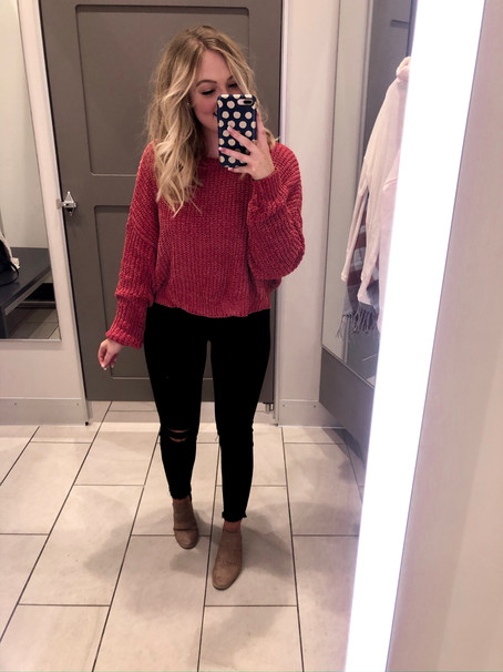Target Sweater Try on