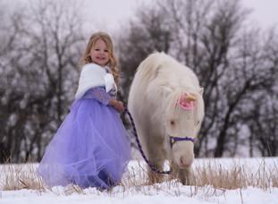 Karoline| Winter Unicorn Session in Gretna, NE