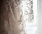 Bridal Traditions gown close up of lace wedding dress