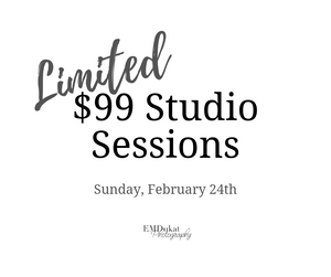Limited $99 Studio Sessions