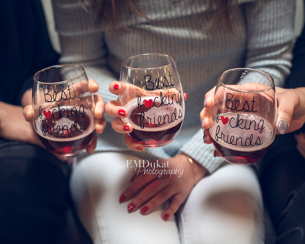 best friends wine glasses from Inspired by BB Creations