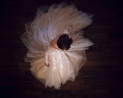 above image of bride twirling in Bridal Traditions gown