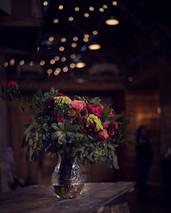 bridal bouquet by Purple Orchid Flowers at Ackerhurst Dairy Farm in Bennington, Nebraska
