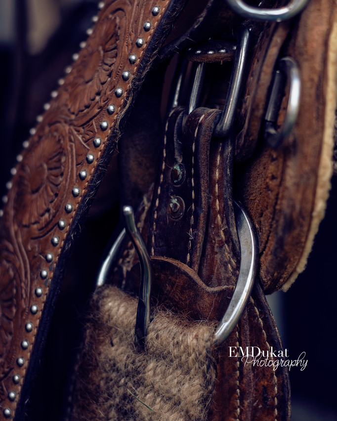 close up of cinch  of a western saddle