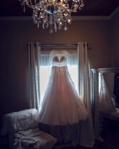 bridal gown by Bridal Traditions at Ackerhurst Dairy Farm in Bennington, Nebraska