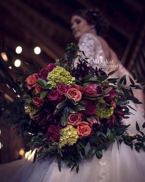 bridal bouquet by Purple Orchid Flowers in Omaha, NE