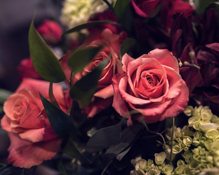 rustic bouquet of roses by Purple Orchid Flowers out of Omaha, NE