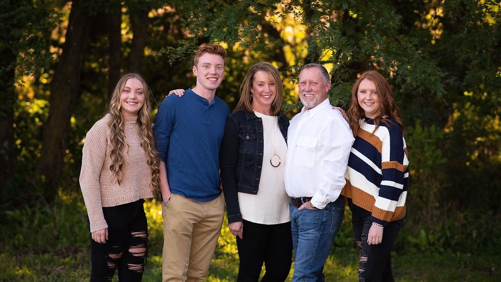 Nebraska family photographer captures fall family portrait