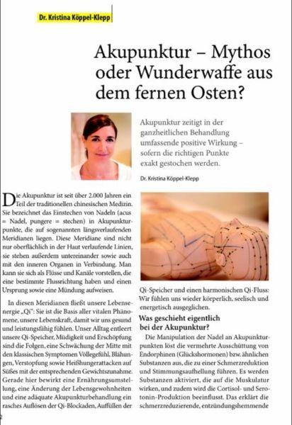 Zeitung Akupunktur 01