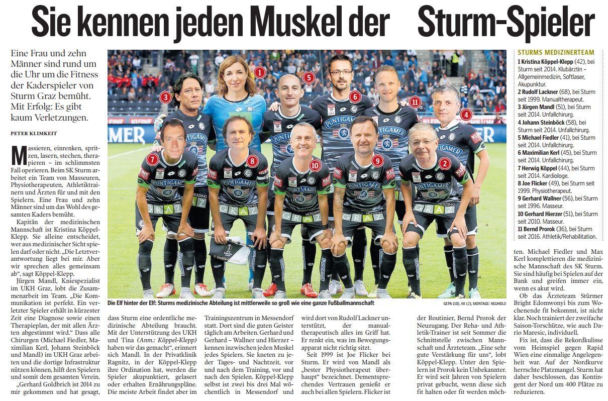 Sturm Artikel jeden Muskel Kleinezeitung
