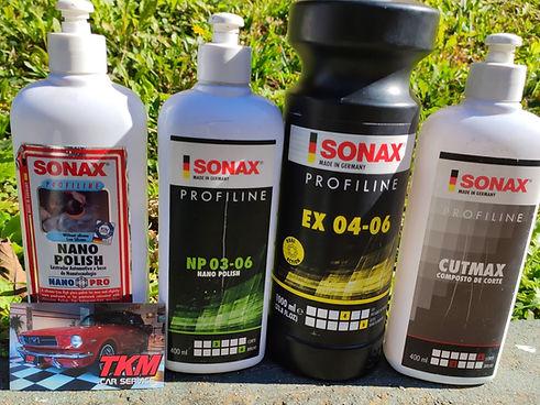 Nossos produtos utilizados para fazer o polimento e espelhamento