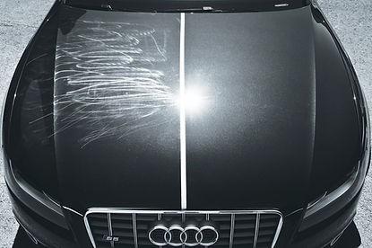 Audi após receber o serviço de polimento, em que os riscos sumiram como pode se ver no antes e depois