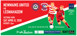Newmains United match banner (2019)