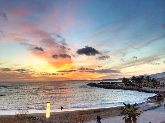 Sonnenuntergang in de Bucht von Portixol Palma de Mallorca