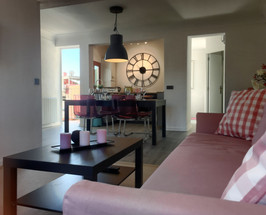 Blick vom Sofa in die Küche