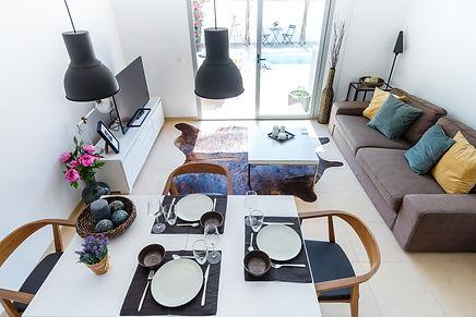 Blick ins Wohnzimmer Ferienhaus Palma de Mallorca