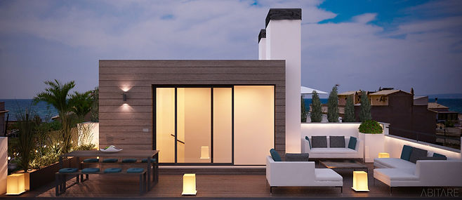 roof terrace with stunnig sea view