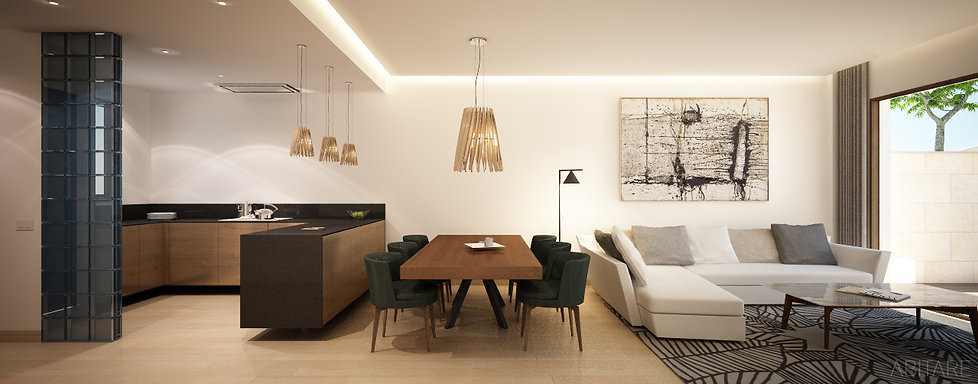 cosy and modern living space