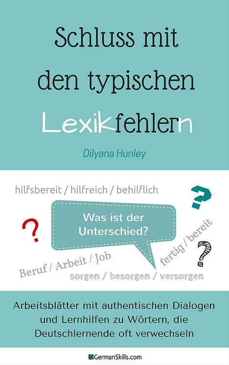 """E-Book """"Schluss mit den typischen Lexikfehlern"""""""