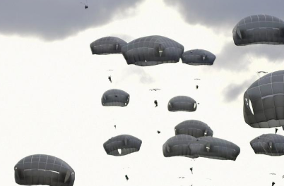 Public domain photo of parachutes.