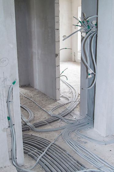 electric cables in corrugation stretchin